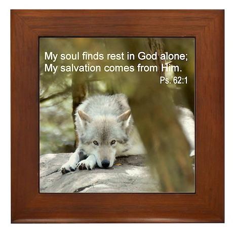 My Soul is at Rest Framed Tile