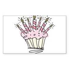 Cupcake with Birthday candles Decal