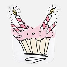 Cupcake with Birthday candles Bib