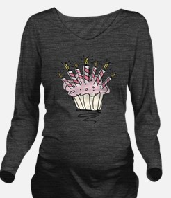 Cupcake with Birthday candles Long Sleeve Maternit