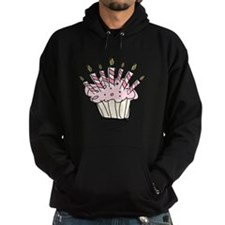 Cupcake with Birthday candles Hoodie