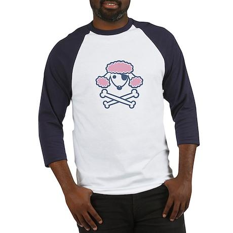 PoodlePirate-2col Baseball Jersey