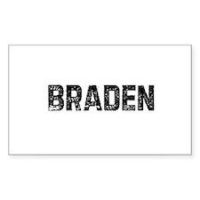 Braden Rectangle Decal