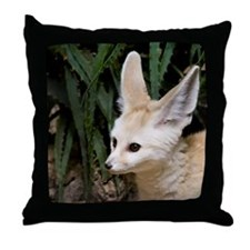 Young fennec fox Throw Pillow