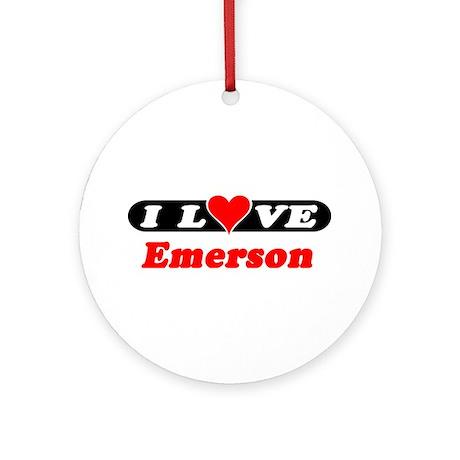 I Love Emerson Ornament (Round)