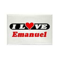 I Love Emanuel Rectangle Magnet