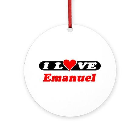 I Love Emanuel Ornament (Round)