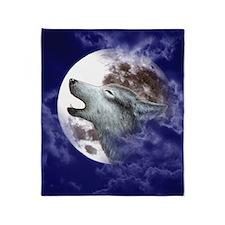 iPad 2 Cover_Moon Wolf Throw Blanket