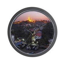 Shwedagon Pagoda Wall Clock