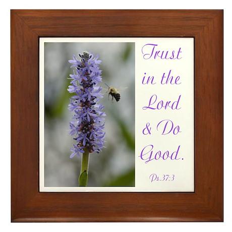 Trust in the Lord Framed Ceramic Tile