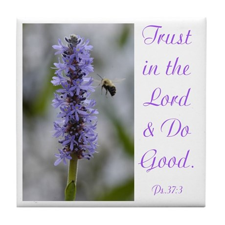 Trust in the Lord Ceramic Coaster