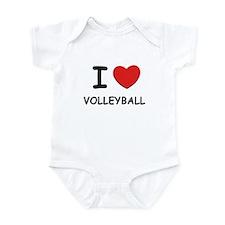 I love volleyball  Infant Bodysuit