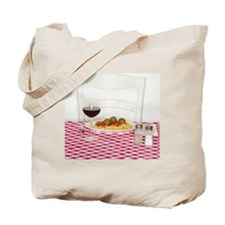 Spaghetti with meatballs Tote Bag