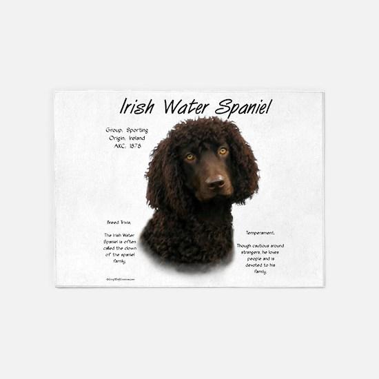 Irish Water Spaniel 5'x7'Area Rug
