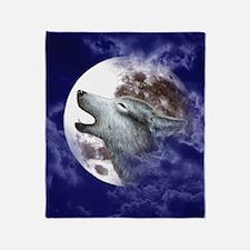 IPad 2 Hard Case_Moon_Wolf Throw Blanket
