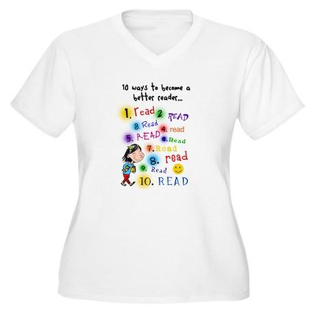 Read Better Women's Plus Size V-Neck T-Shirt