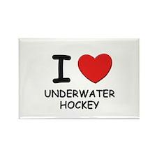 I love underwater hockey Rectangle Magnet