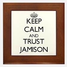 Keep Calm and TRUST Jamison Framed Tile