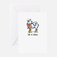 Samoyed Scarf Let it Snow Greeting Cards (Pk of 20