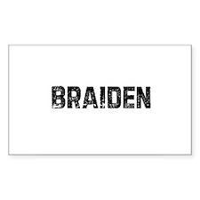 Braiden Rectangle Decal