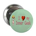 """Inner Geek Girl 2.25"""" Button (100 pack)"""