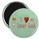 """Inner Geek Girl 2.25"""" Magnet (10 pack)"""