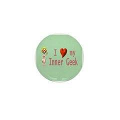 Inner Geek Girl Mini Button (10 pack)