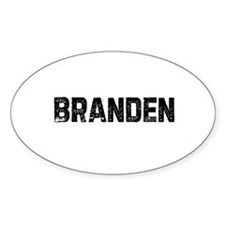 Branden Oval Decal