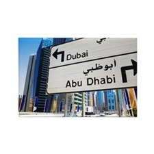 Street sign, Dubai Rectangle Magnet