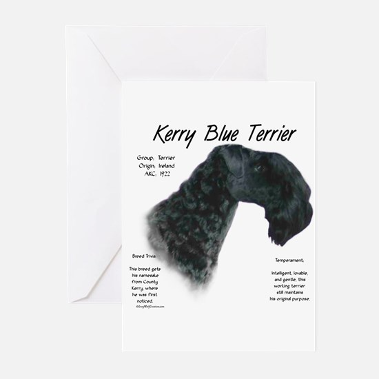 Kerry Blue Terrier Greeting Cards (Pk of 10)