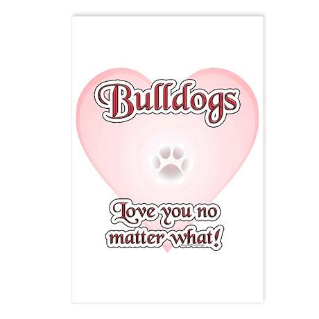 Bulldog Love U Postcards (Package of 8)