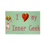 Inner Geek Girl Rectangle Magnet (10 pack)