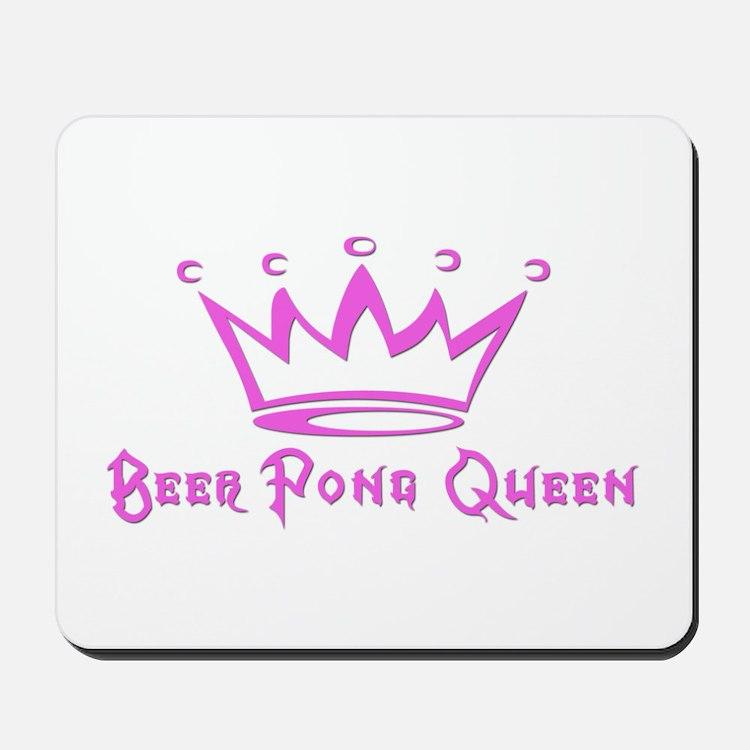 Beer Pong Queen Mousepad