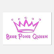 Beer Pong Queen Postcards (Package of 8)