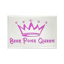 Beer Pong Queen Rectangle Magnet