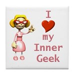Inner Geek Girl Tile Coaster