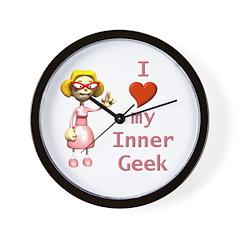 Inner Geek Girl Wall Clock