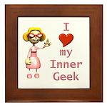 Inner Geek Girl Framed Tile