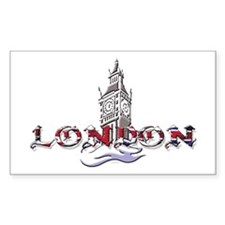 London: Clock Tower Rectangle Decal