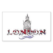 London: Clock Tower Rectangle Decal