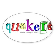 quakers- cooler Oval Decal