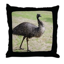 Emu goes walkabout Throw Pillow