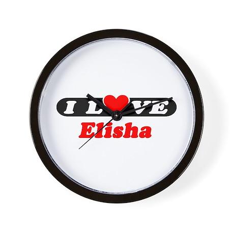I Love Elisha Wall Clock