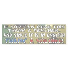 Troop support Bumper Sticker