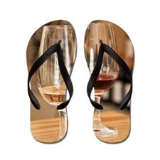 Red and white wines in winery tasting r Flip Flops