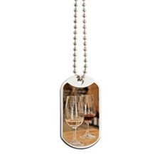 Red and white wines in winery tasting roo Dog Tags