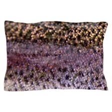 Scales of rainbow trout Pillow Case