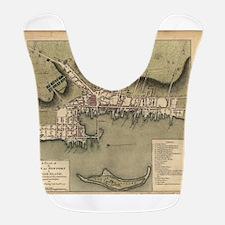 Vintage Map of Newport Rhode Is Polyester Baby Bib