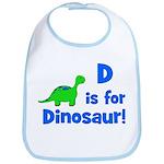 D is for Dinosaur! Bib