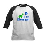 D is for Dinosaur! Kids Baseball Jersey